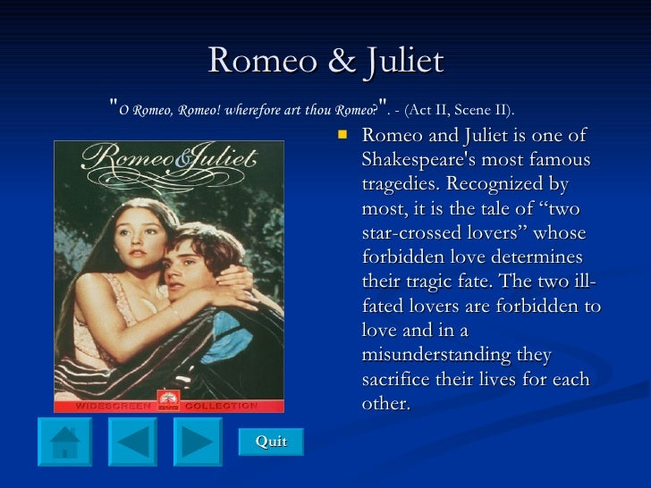 an analysis of the tragic fate of romeo and juliet a play by william shakespeare Both romeo and juliet often seem controlled by fate and not by logic retrieved from jamison william shakespeare's romeo and juliet.