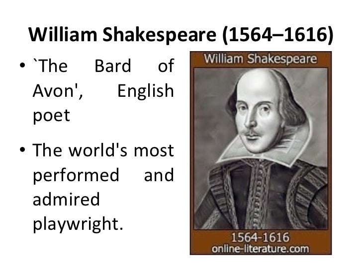 a biography of william shakespeare the bard of avon Sonnets, apocryphal plays + the biography: the life of william shakespeare by sidney he is often called england's national poet and the bard of avon.
