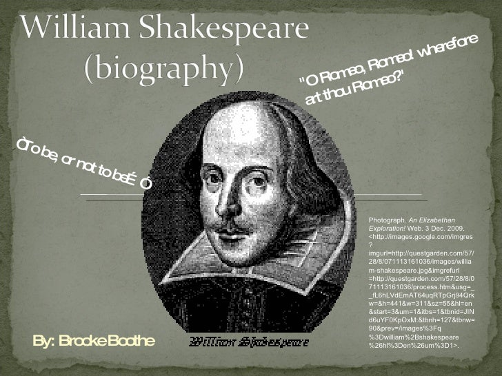 Shakespeare biography summary