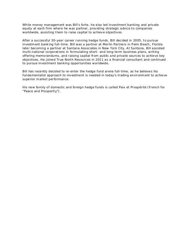 William A Ehrman Biography 2013