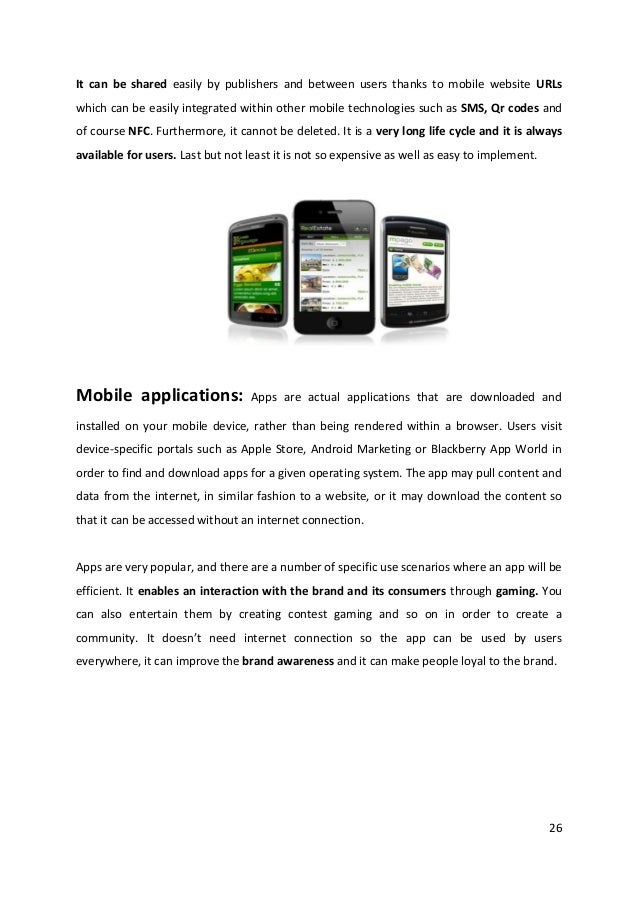 26It can be shared easily by publishers and between users thanks to mobile website URLswhich can be easily integrated with...