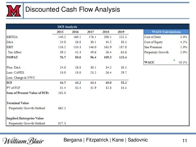discounted cash flow and football field When valuing a company as a going concern there are three main valuation methods used:  discounted cash flow  football field chart.