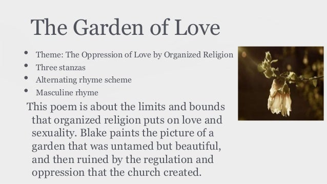 garden of love william blake analysis