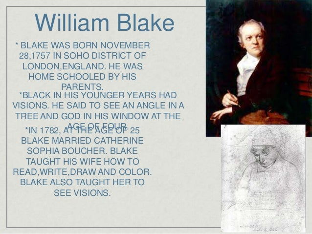 was william blake married