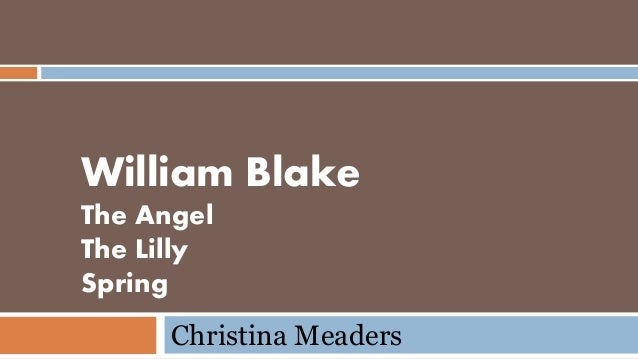 William Blake The Angel The Lilly Spring Christina Meaders