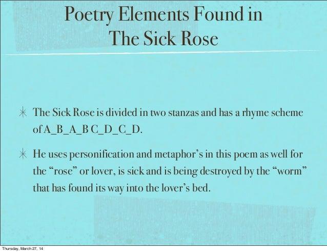 the sick rose william blake analysis