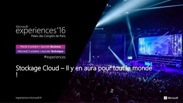 Stockage Cloud – Il y en aura pour tout le monde !