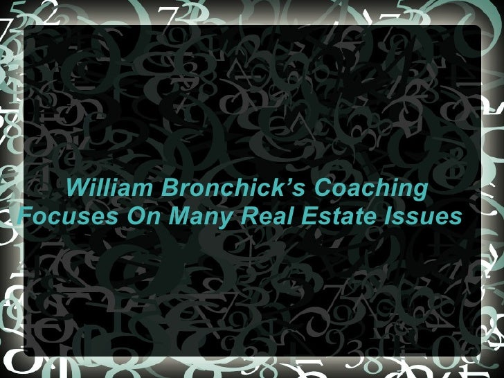 William Bronchick's Coaching Focuses On Many Real Estate Issues