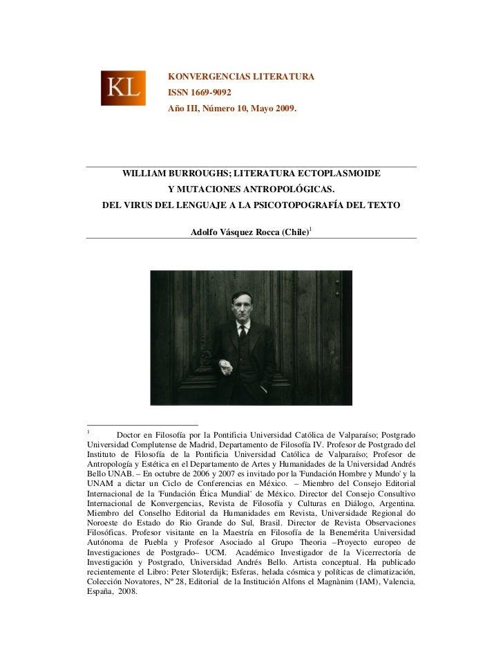 KONVERGENCIAS LITERATURA                       ISSN 1669-9092                       Año III, Número 10, Mayo 2009.        ...