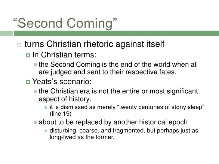 the second coming research paper Summary plot the second coming is a commentary on the disintegration of  modern civilization, and culminates  consider a research paper in which you.