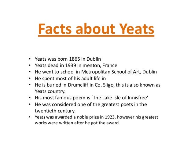a comparison of the poems the lake isle of innisfree by wb yeats and the world is too much with us b The collected poems of wb yeats has 31,051 ratings and 354 reviews and the lake isle of innisfree rose of all the world you, too.