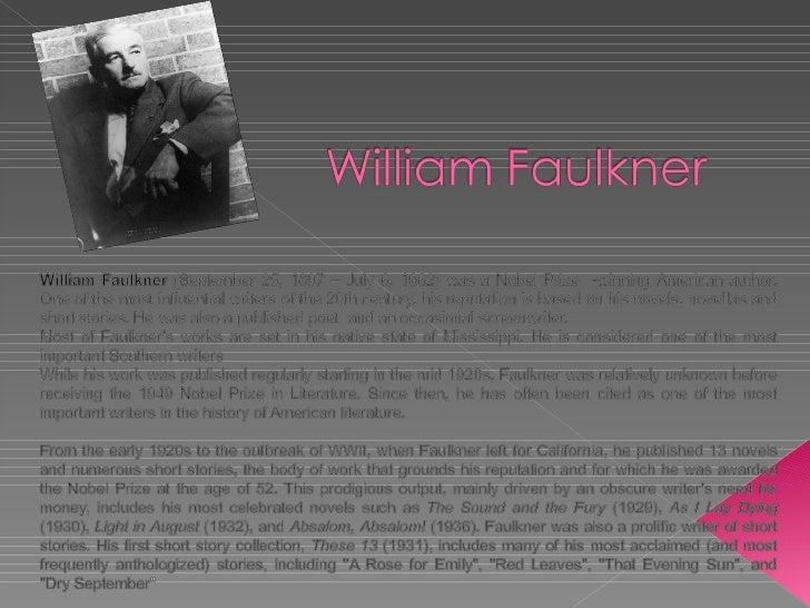What details support that Faulkner uses symbolism in
