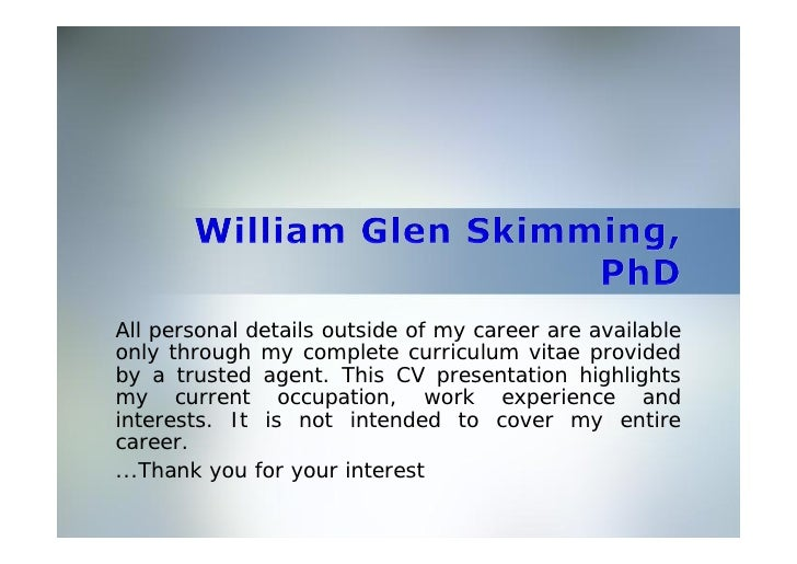 All personal details outside of my career are available only through my complete curriculum vitae provided by a trusted ag...