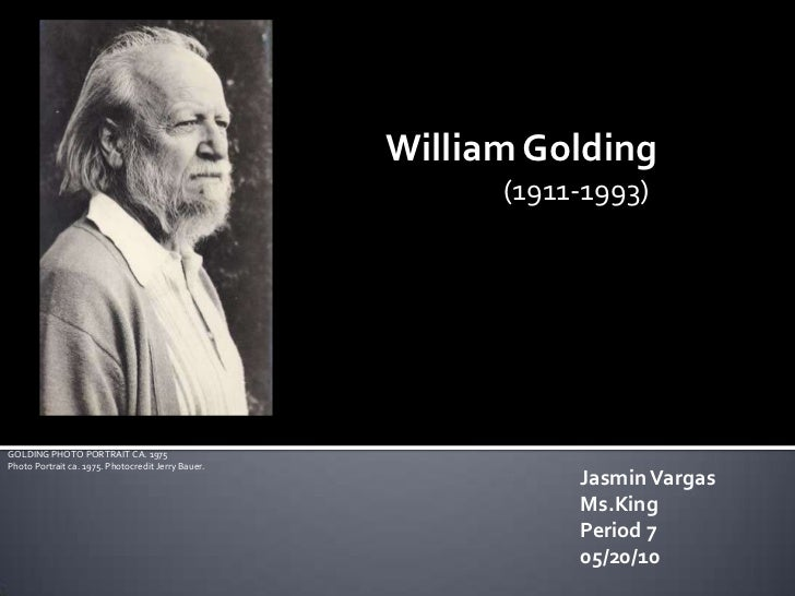 William Golding<br />(1911-1993)<br />GOLDING PHOTO PORTRAIT CA. 1975Photo Portrait ca. 1975. Photocredit Jerry Bauer.<br ...