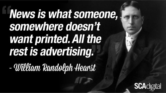 Definition of News from William Hearst