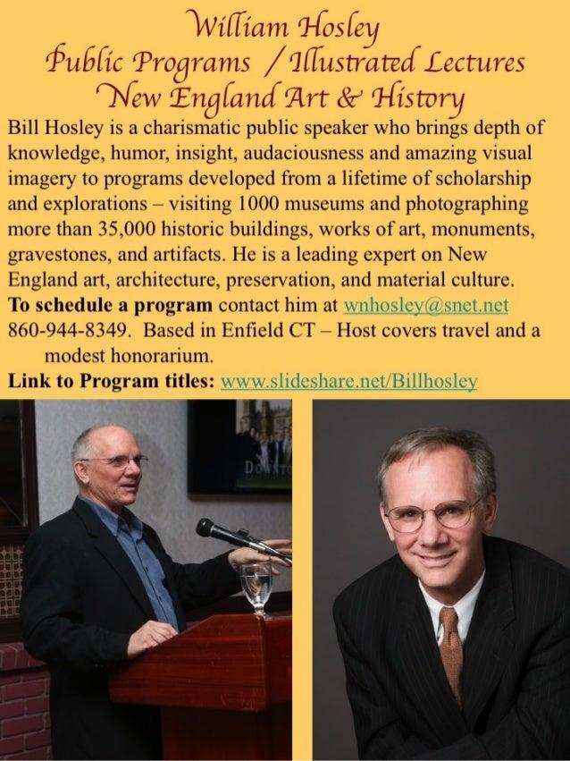 William Hosley Public Programs & Lectures