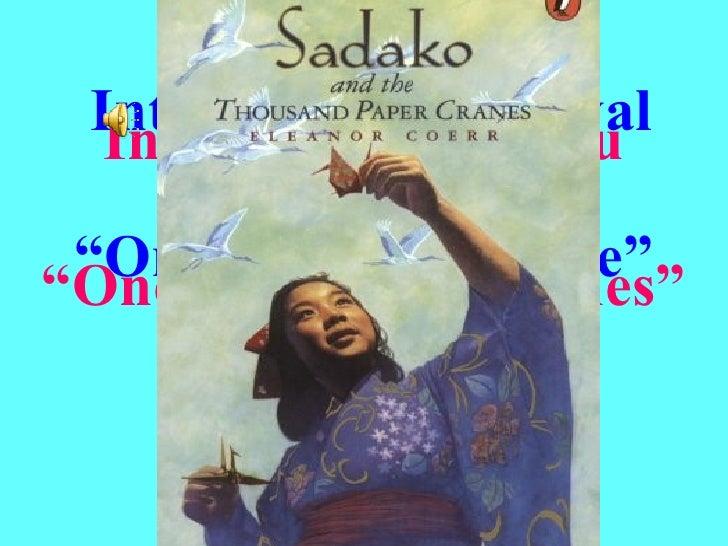 "Interna t ional  Festival "" Origami Peace Tree ""   (OPT) International Haiku Contest ""One Thousand Cranes"" Romania 2008"