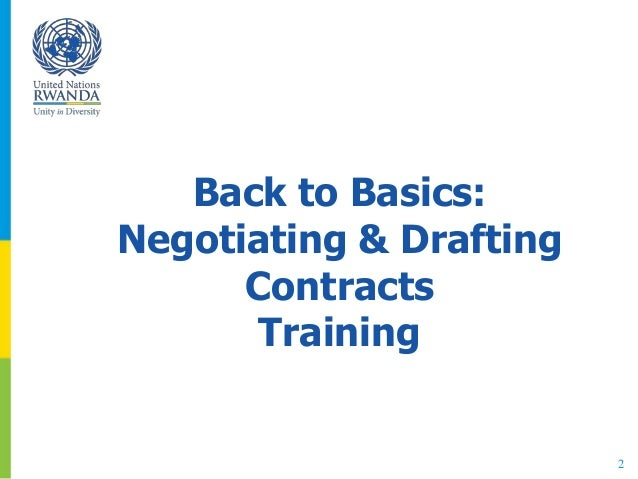 2 Back to Basics: Negotiating & Drafting Contracts Training