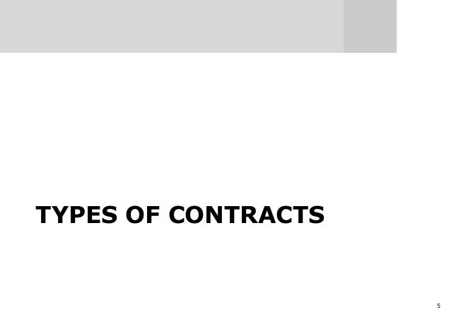 5 TYPES OF CONTRACTS