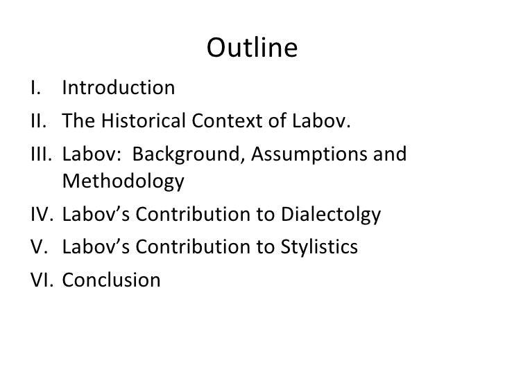 Socioliguitics: William Labov Slide 2