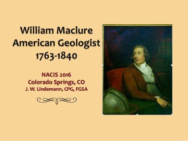 NACIS 2016 Colorado Springs, CO J. W. Lindemann, CPG, FGSA