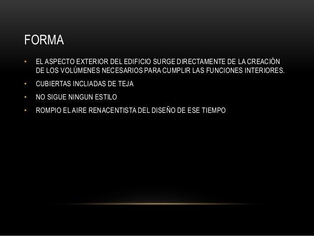 FORMA • EL ASPECTO EXTERIOR DEL EDIFICIO SURGE DIRECTAMENTE DE LA CREACIÓN DE LOS VOLÚMENES NECESARIOS PARA CUMPLIR LAS FU...