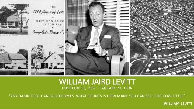 William Jaird Levitt : William levitt