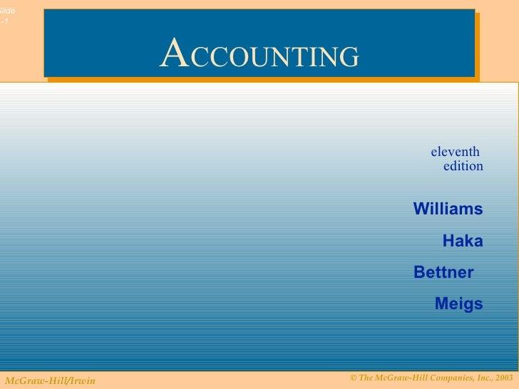 Financial accounting: robert f. Meigs, jan r. Williams, susan f.