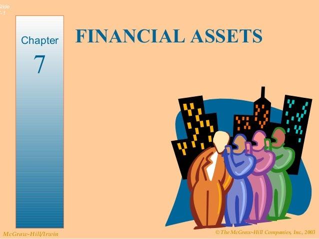 © The McGraw-Hill Companies, Inc., 2003McGraw-Hill/Irwin Slide 7-1 FINANCIAL ASSETSChapter 7