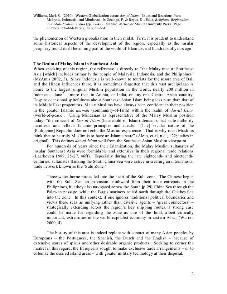 Williams 2010 W Globaliz Vs Darul Islam As Pubd Slide 2