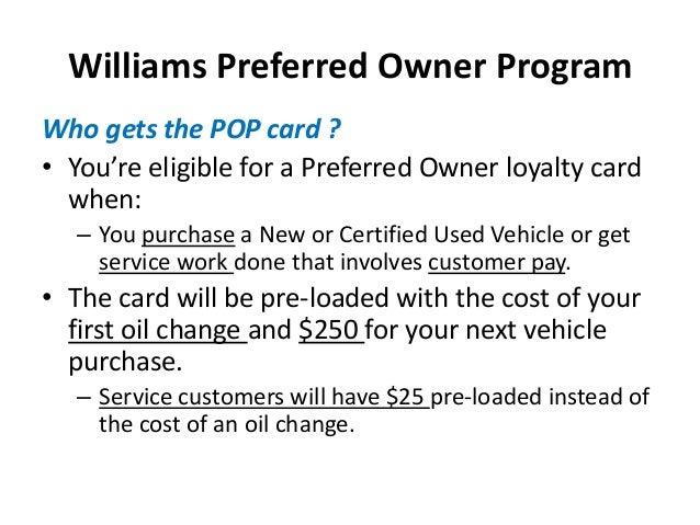 Williams Preferred ...