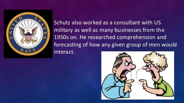 schutz s theory on interpersonal needs William schutz had a slightly different take on things his theory, called the  fundamental interpersonal relations orientation (firo), sought to explain the  what.
