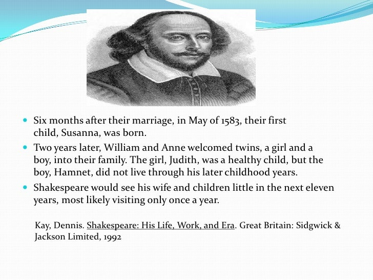 William shakespeare life summary