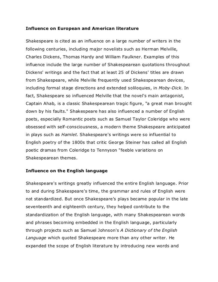 an analysis of the impact of william shakespeare on the writings of charles dickens English-a class xi let me not - william shakespeare 2 song offerings # 63 - rabindranath tagore 3 dulce et decorum - wilfred owen indianization of the writings of some english writers like dickens, hardy, jane-austin.