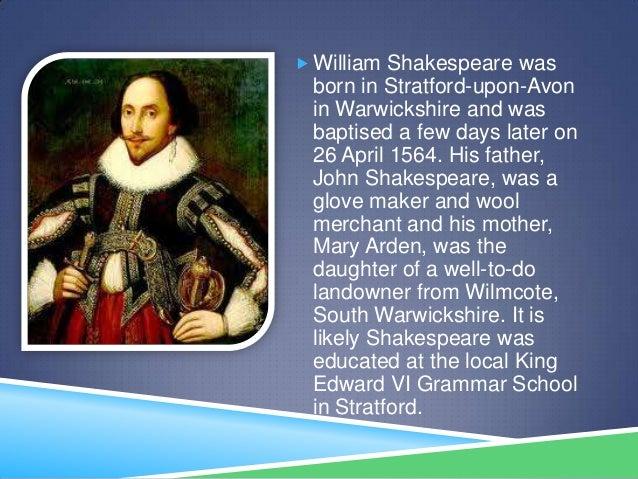William shakespeare Slide 2
