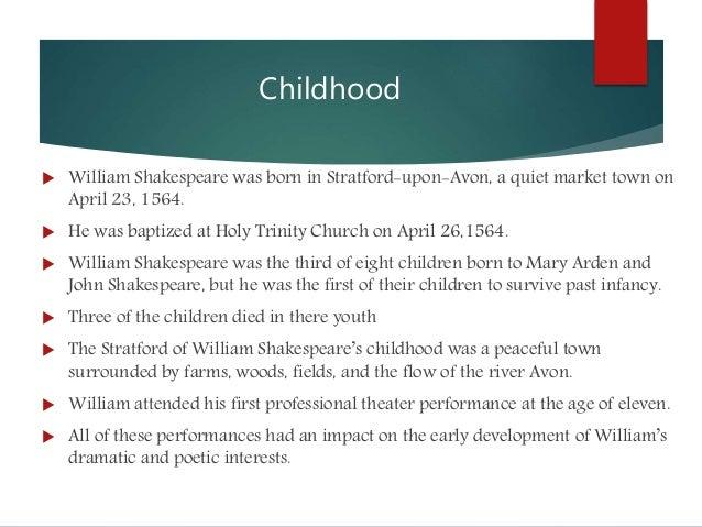 william shakespeare interests - Shakespeare Lebenslauf