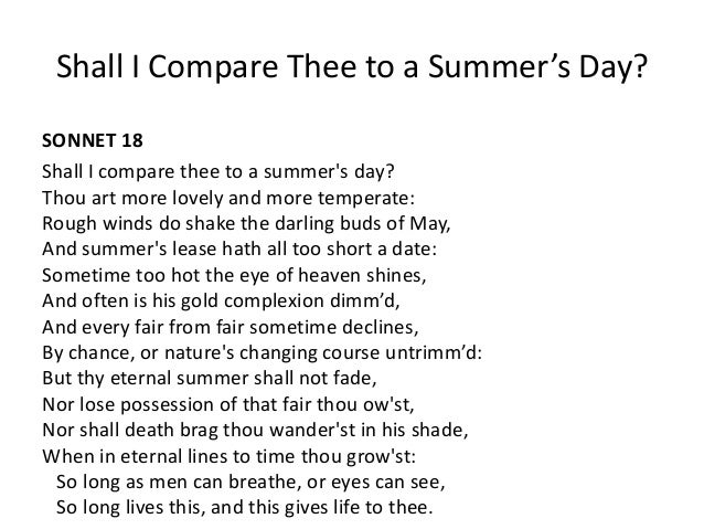 compare and contrast sonnet 75 and 18