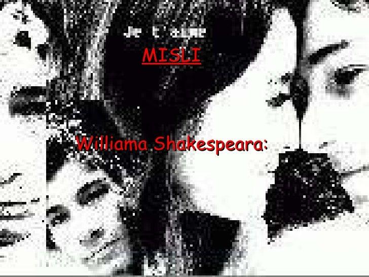 MISLI Williama Shakespeara: