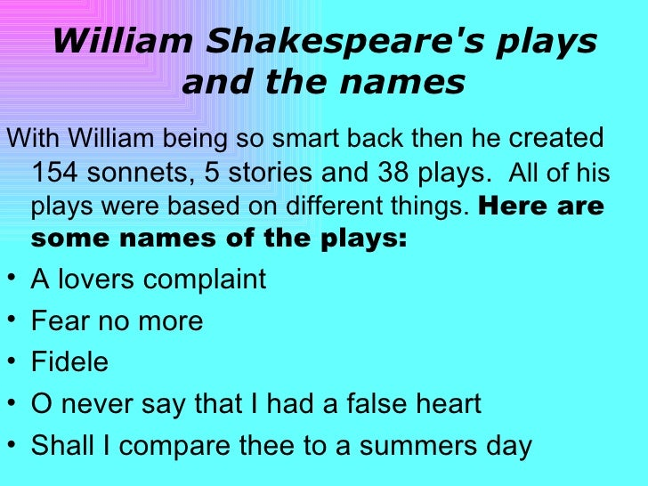 three categories of william shakespeares plays Shakespeare's plays, listed by genre list plays alphabetically by number of words by number of speeches by date links lead to the play's text and the dramatis.