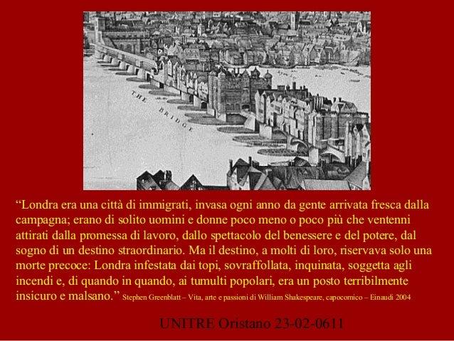 """UNITRE Oristano 23-02-0611 """"Londra era una città di immigrati, invasa ogni anno da gente arrivata fresca dalla campagna; e..."""