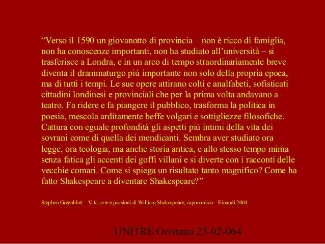 """UNITRE Oristano 23-02-064 """"Verso il 1590 un giovanotto di provincia – non è ricco di famiglia, non ha conoscenze important..."""