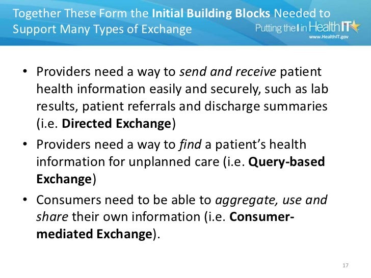 health information exchange Health information exchangeparticipation by minnesota primary  medical and  surgical history, medication list, and basic laboratory work.