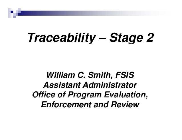 William Smith Fsis Asst Admin Office Of Program Evaluation