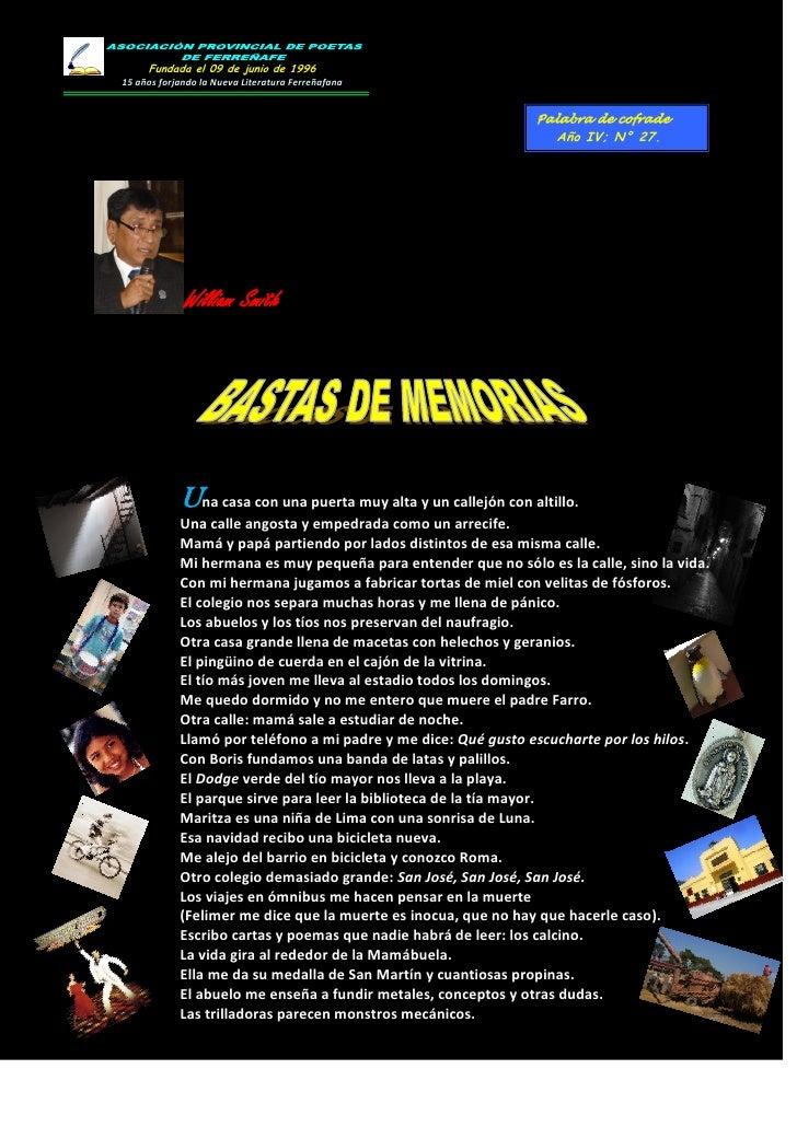 Fundada el 09 de junio de 199615 años forjando la Nueva Literatura Ferreñafana                                            ...