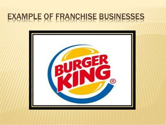 Williamson mini lecture on franchise business