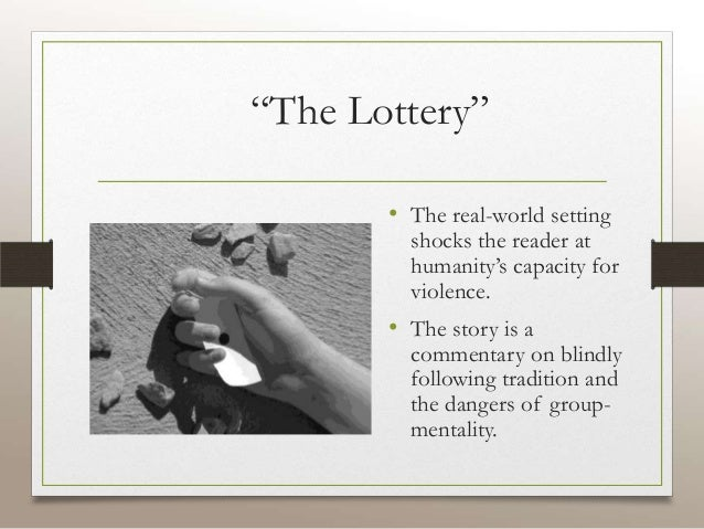 essays on the lottery The lottery occurs on the twenty -seventh day of june, and the oldest man in the town has been to seventy-seven lotteries the number three has two meanings in this short story the first is the christian concept of the trinity: the father, the son, and the holy ghost.