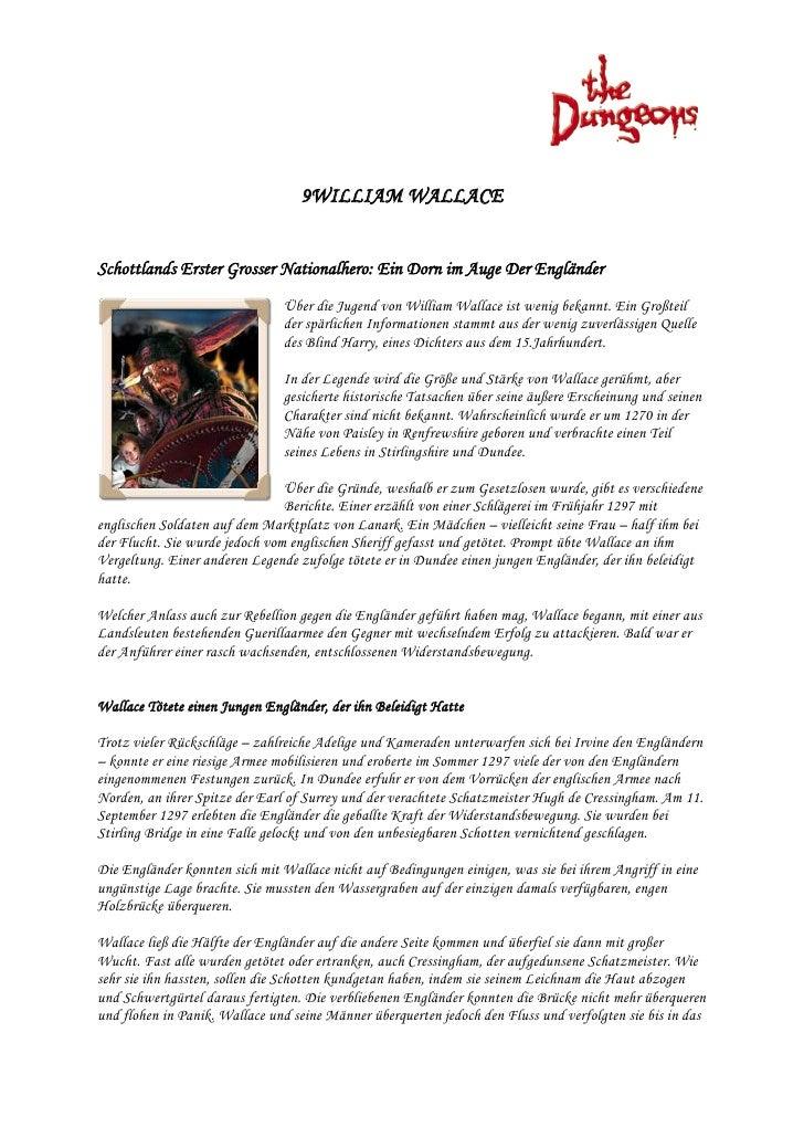 9WILLIAM WALLACE   Schottlands Erster Grosser Nationalhero: Ein Dorn im Auge Der Engländer                                ...