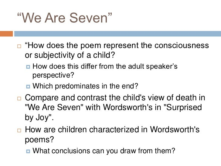 we are seven poem