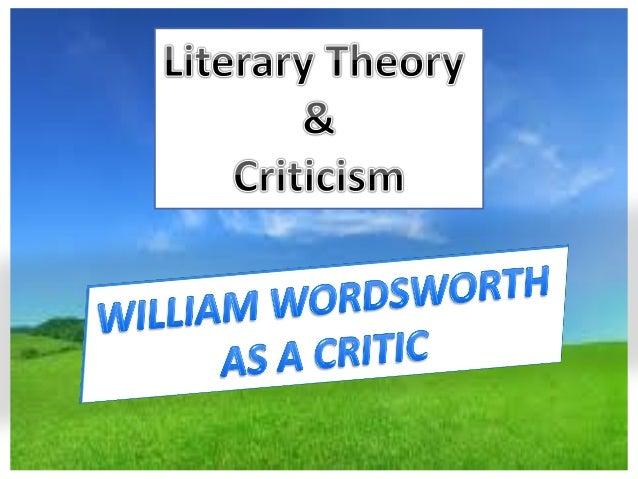 William wordsworth critical essays
