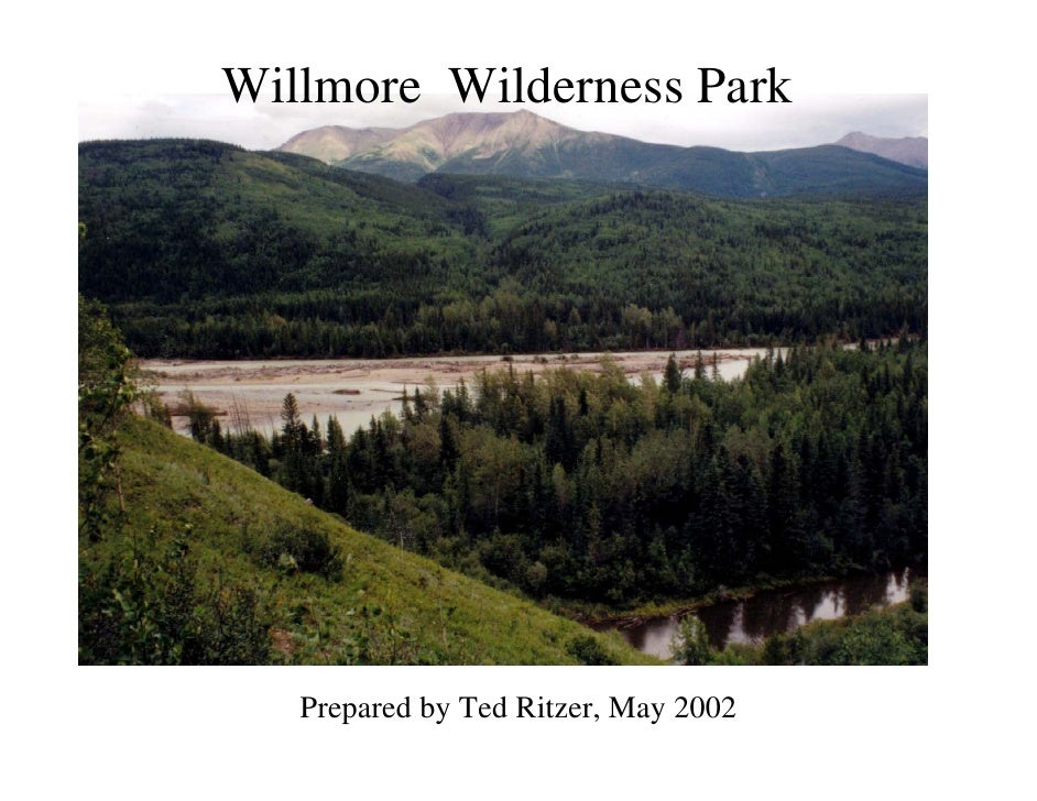 Willmore Wilderness Park    Willmore Wilderness Park        Prepared by Ted Ritzer, May 2002